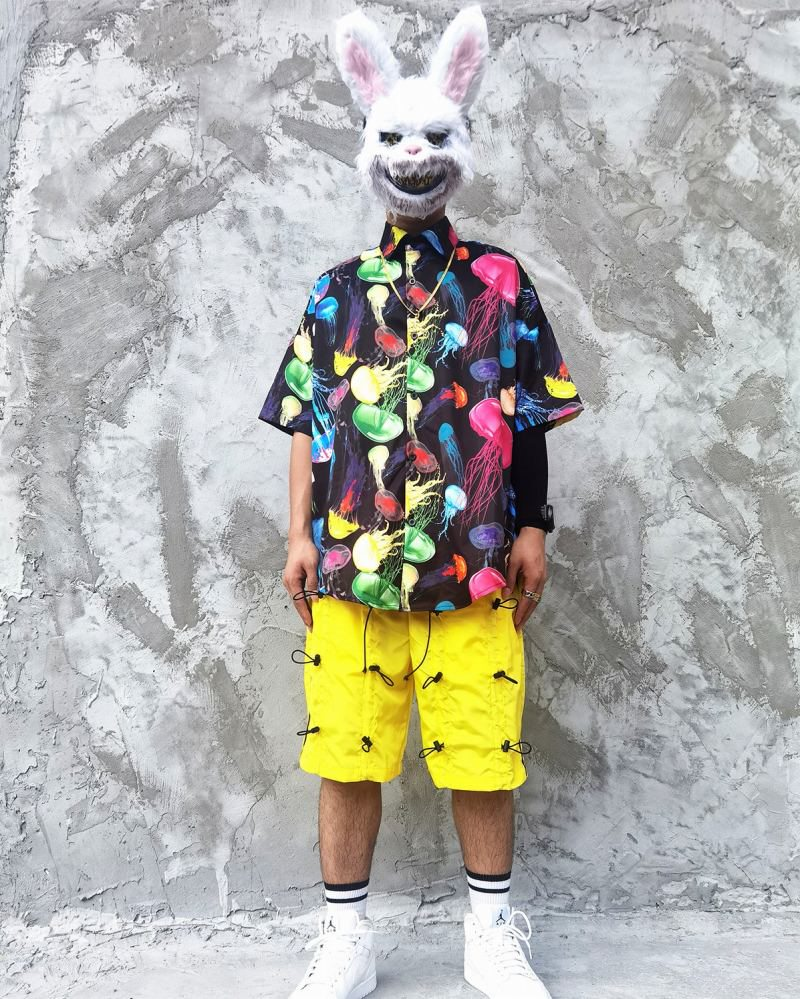 《2色》ネオンカラークラゲ半袖シャツの画像6